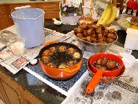 Dutch Oliebollen at New Year's Eve